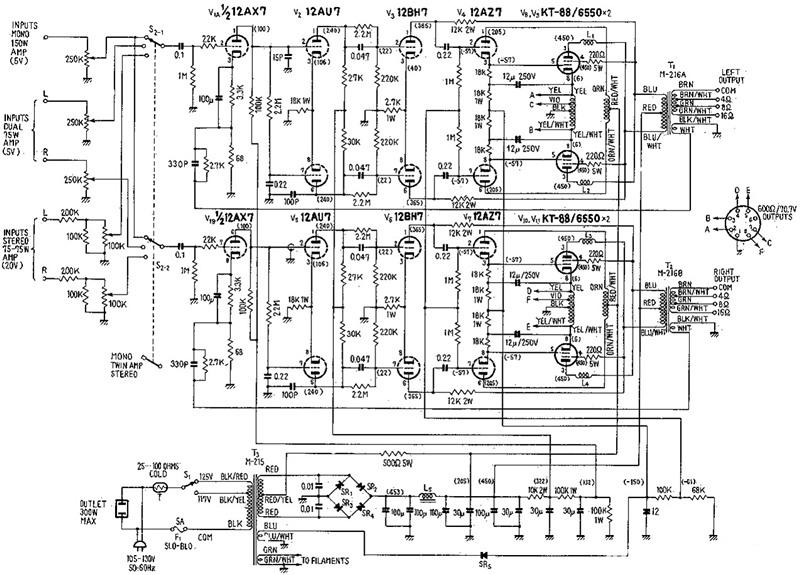 麦景图mc275电子管功放电路分析